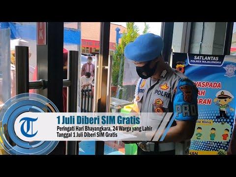 Peringati Hari Bhayangkara, 24 Warga yang Lahir Tanggal 1 Juli Diberi SIM Gratis