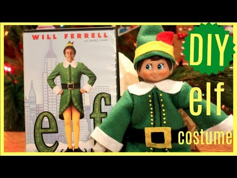 DIY Buddy the Elf costume for your Elf on the Shelf// Elf on the Shelf caught moving 2017