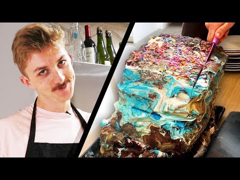 We Mixed Every Cake Flavor To Make A Giant Cake