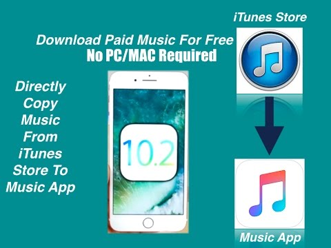 (No PC) Itunes Music Hack IOS | Direct Music Download To Music App