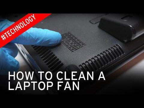how to clean the hp laptop fans