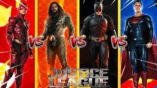 Minecraft JUSTICE LEAGUE - FLASH VS AQUA MAN VS SUPERMAN VS BATMAN - WHOI IS THE STRONGEST??