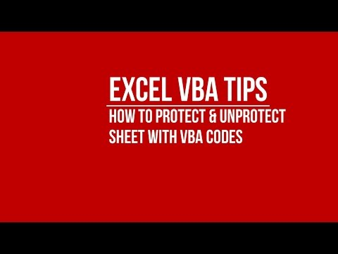 [VBA] How to Automatically Protect and Unprotect Sheet Using VBA Codes