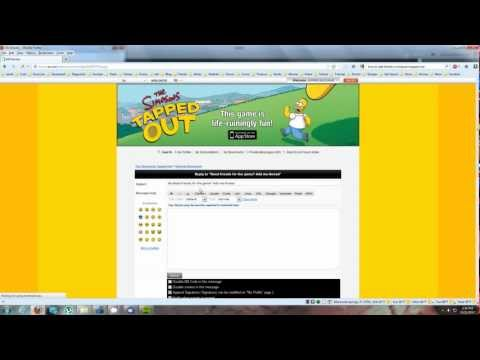 Simpsons - Tapped Out - How to quickly add friends to get easy fast cash - iPhone/iPad/iPod