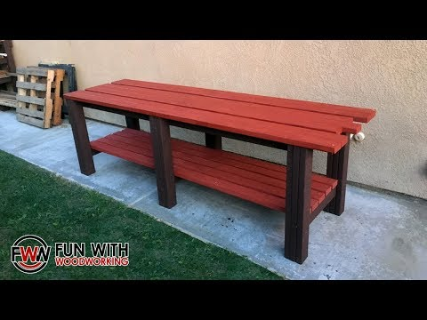 Project - Build a simple and strong workbench out of 2x4's