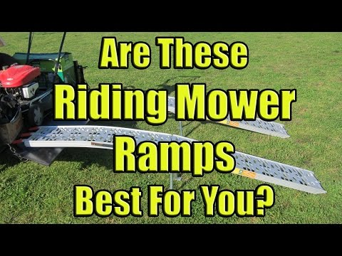 Folding Lawn Mower Loading Ramps (9 Foot Aluminum Ramps for a Riding Mower)