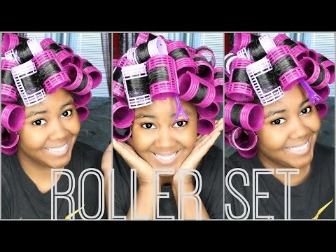 Roller Set Transitioning Hair | Experiment With Me! ♡