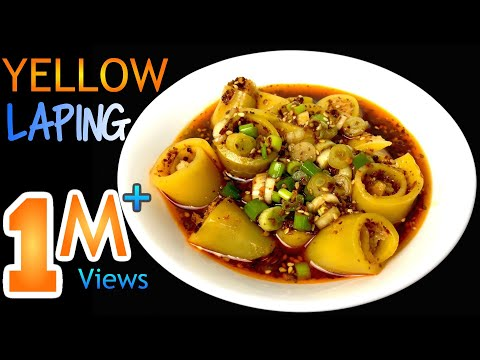 YELLOW LAPING RECIPE | How To Make LAPING | LAPHING | Nepali Street Food | Yummy Food World 🍴 96