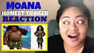 HONEST TRAILERS- MOANA REACTION!