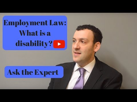 Employment Law: What is a disability? Ask the Expert