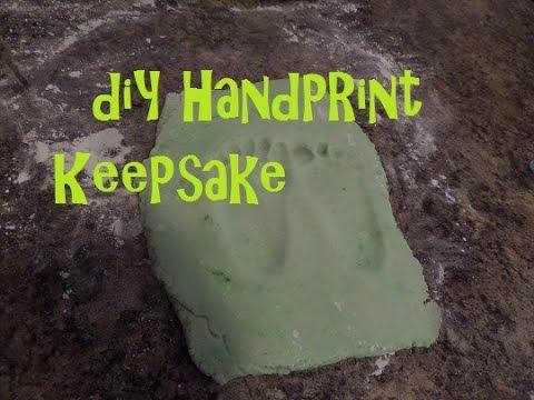 DIY Clay Footprint Keepsake!