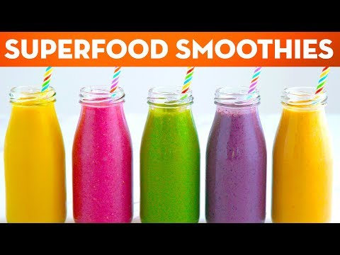 5 Superfood Healthy Smoothie Recipes For Breakfast Lunch & Dinner + ANNOUNCEMENT! - Mind Over Munch