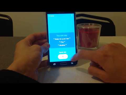 How to use Samsung S Voice on the Samsung Galaxy S5 HD