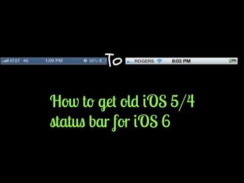 iOS 5 Silver Status Bar For iOS 6 iPod 5g 4g/iPhone 5 4s 4