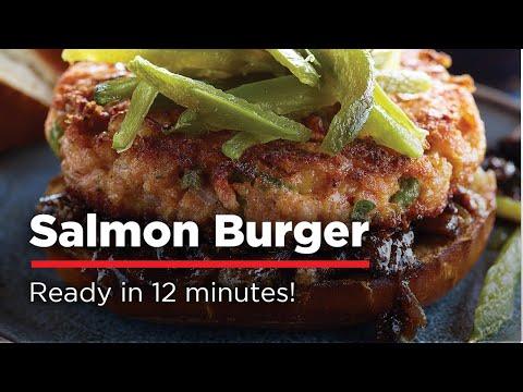 H-E-B Salmon Burger Grilling Tutorial