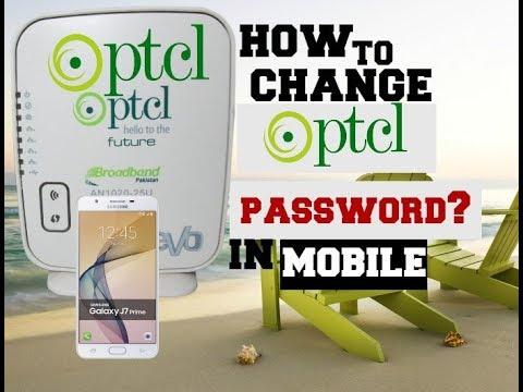 how to change   PTCL   WiFi password in   mobile   urdu hindi   Ahmad  