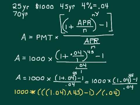 Calculating Savings based on APR