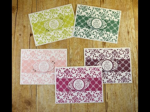 Pretty Handmade Floral Cards Using the Stampin Up Label Me Pretty Stamp Set and Punch