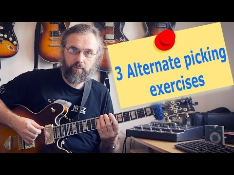 3 Great Alternate picking exercises to help you play fast - Guitar Lesson