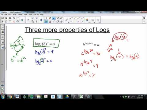 Change of Base and other log Properties (Alg 2T Ch4.4.2)