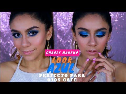Tutorial AZUL perfecto para ojos café | ILUMINADOR  Strobelite LA Girl  GDL | Charly Makeup