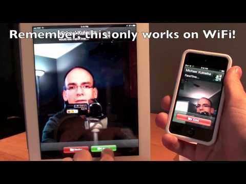 Apple iPad 2 FaceTime: Setup & Demo
