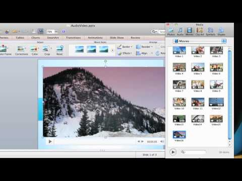 Lesson 1 - Insert audio and video into a PowerPoint presentation
