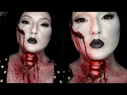 Sliced Up Black & White Beauty Halloween Costume Makeup Tutorial