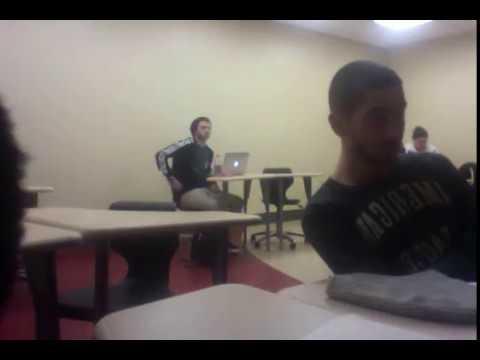 Falling asleep in class