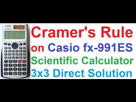 Cramer's Rule Solving 3x3 Linear Equations on Casio fx-991ES Scientific Calculator + Shortcut Trick!