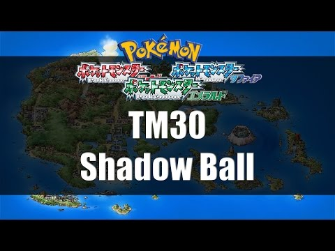 Pokemon Ruby/Sapphire/Emerald - Where to find TM30 Shadow Ball