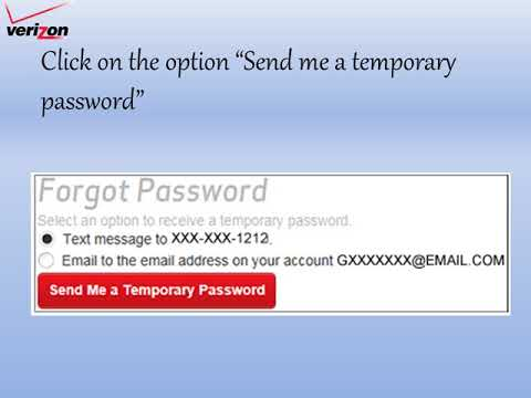 Recover The Forgotton Verizon Email Account Password