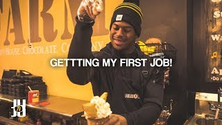 JuJu Smith-Schuster Gets a Job: Making Fans Ice Cream!