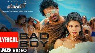 Saaho: Bad Boy Lyrical | Prabhas, Jacqueline Fernandez | Badshah, Neeti Mohan