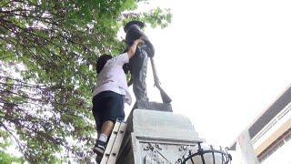 Protesters tear down Confederate statue in North Carolina