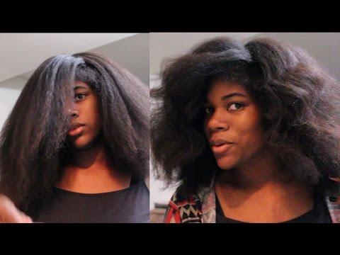 Du-Rag Curls on Natural Blown Out Hair