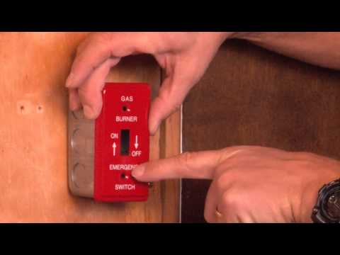 1 Gang Box Cover: One-Gang Emergency Toggle Switch Cover for Gas Powered Applications BP-19350