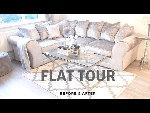 MY FIRST FLAT/APARTMENT TOUR   Before & Afters, & Designing my apartment on a budget   JV HOME