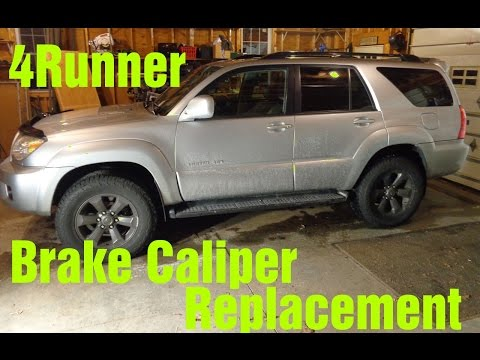 2007 Toyota 4Runner Sticking Brake Caliper Replacement