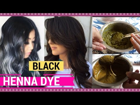 Get jet black hair at home naturally | how to mix henna hair dye to cover grey hair