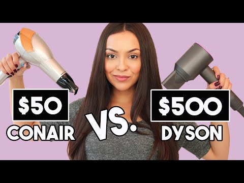 $50 HAIR DRYER vs. $500 HAIR DRYER! Which one is worth the money?! - TrinaDuhra