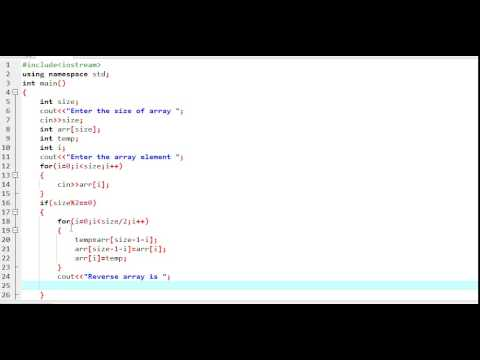 How to reverse array in c++ simple programm