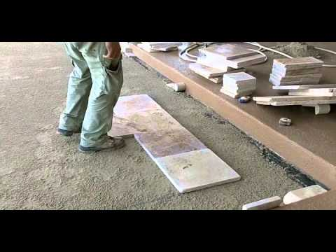 Travertine Paver Pool Deck Installation - Part 1