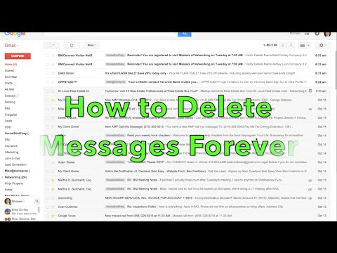 How to Permenantly Delete Gmail Message