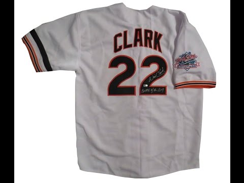 Will Clark Autographed Giants 1989 World Series Signed Baseball Jersey MLB AUTHENTICATED