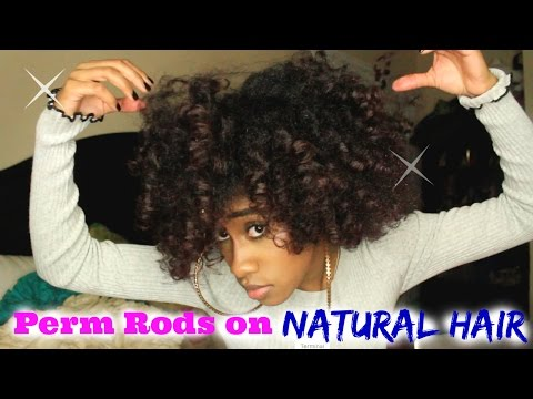 Stretched Perm Rod Set On Natural Hair   Nae and Nea