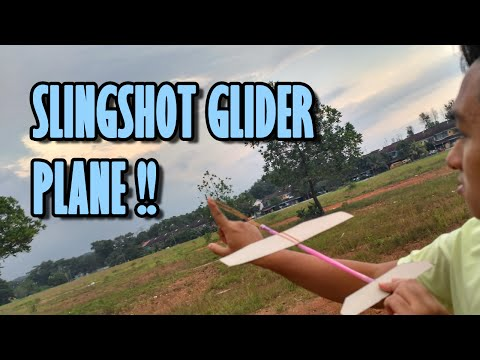Toys From Trash :How To Make Rubber Band Powered Glider ! (Slingshot Glider) |DIY| 2016