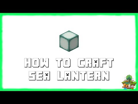 Minecraft 1.12.2: How to Make SEA LANTERNS! Recipe Tutorial for Minecraft 1.12.2 | 2018