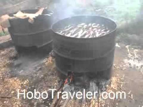 Smoking Fish in Ghana