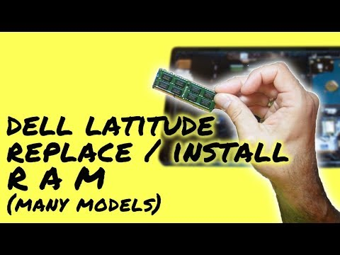 How to Upgrade RAM on Dell Latitude Laptop Computer